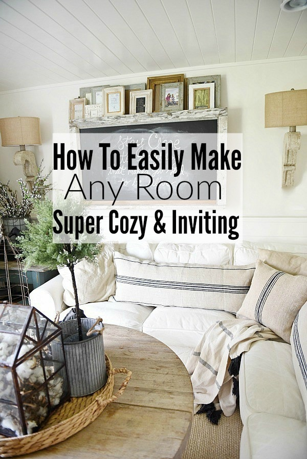 HOW TO MAKE ANY ROOM SUPER COZY & INVITING - A must pin to learn how to add a cozy element to any space.