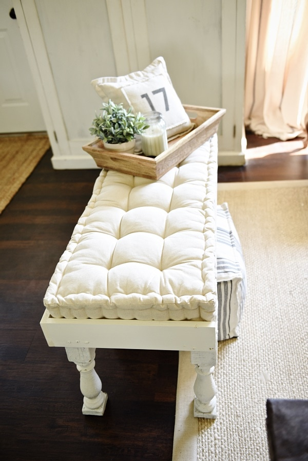 how to make a bed bench