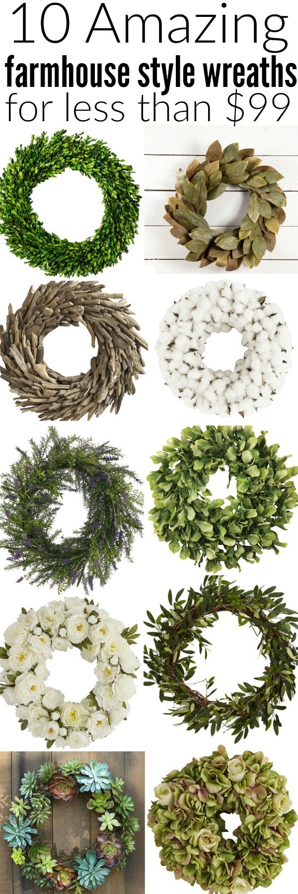 10 amazing farmhouse style wreaths for Amazing wreaths