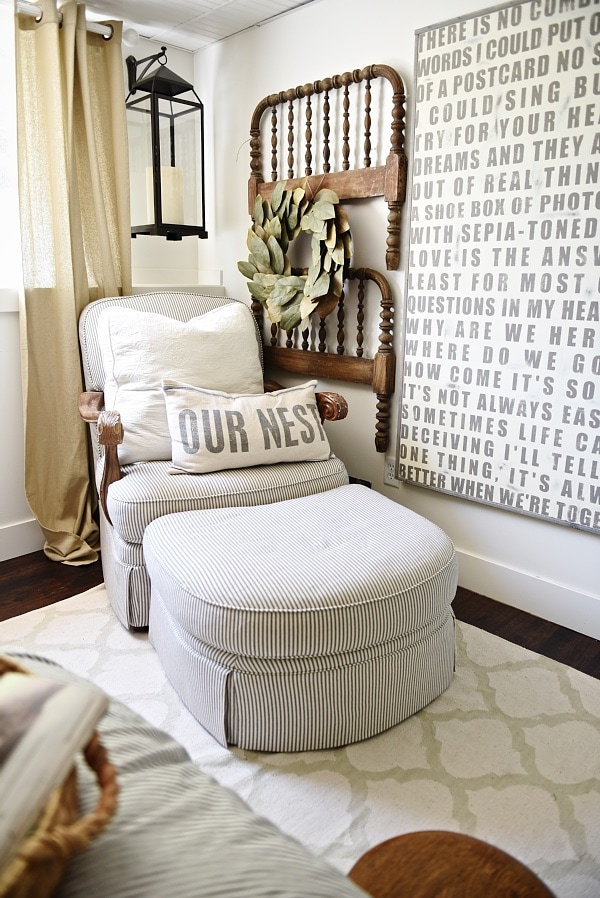 Farmhouse guest bedroom makeover for Bedroom makeover inspiration