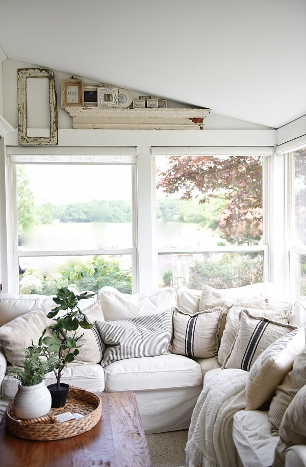 First holes in the wall at the farmhouse for Farmhouse sunroom ideas