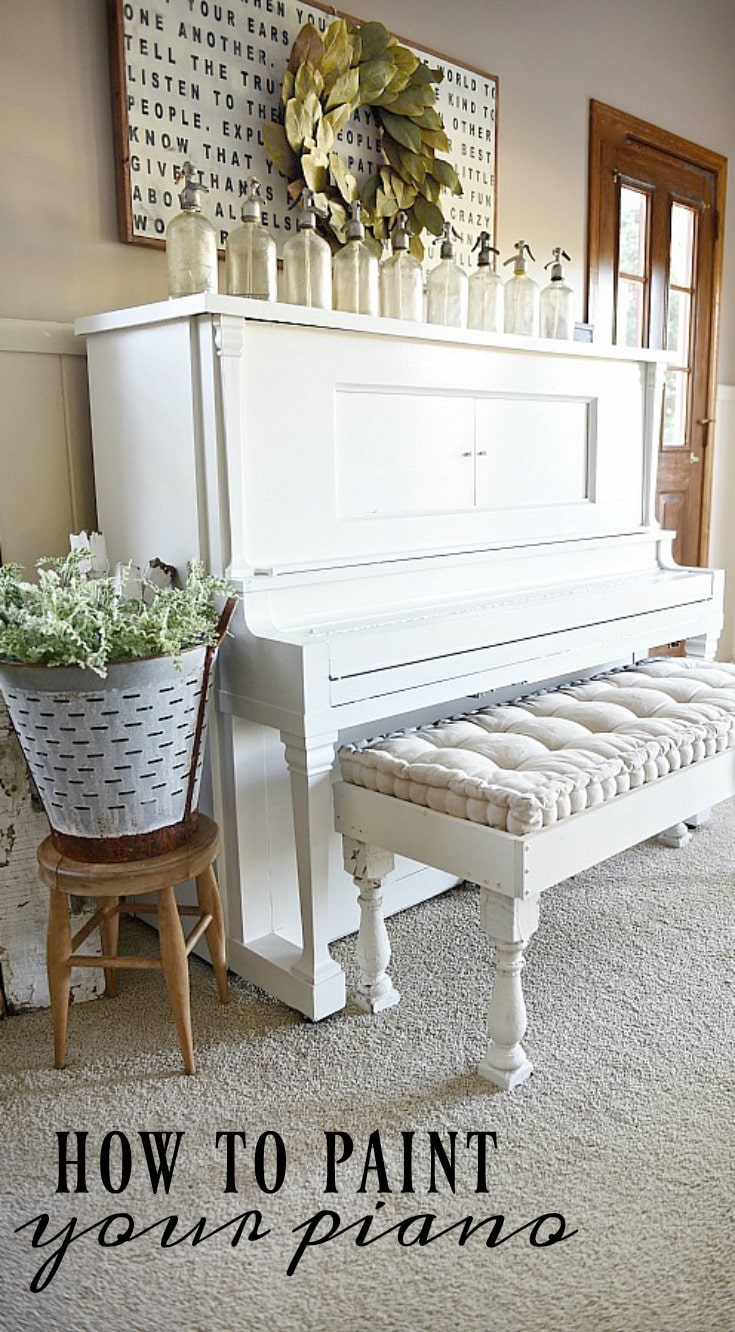 We painted our piano how to paint your piano liz marie - How we paint your room ...