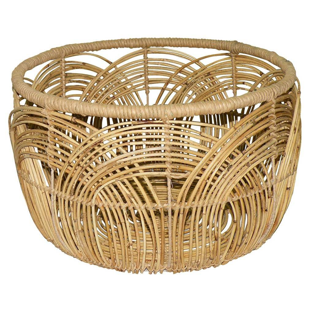 Diy basket coffee table Coffee table baskets