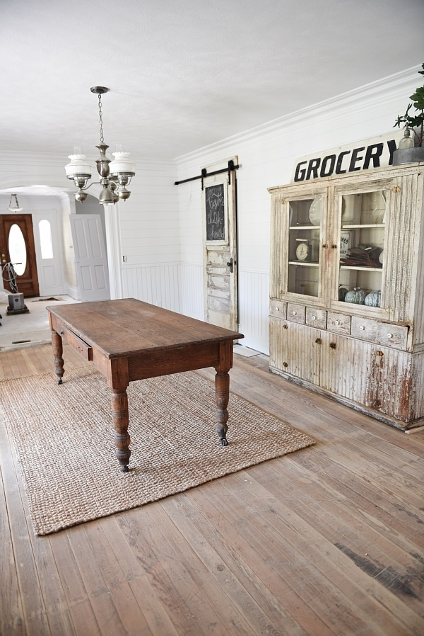 Farmhouse Dining Room Floor Progress