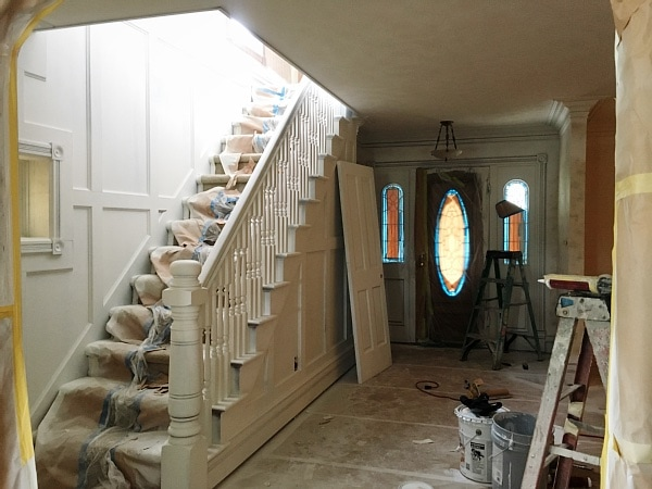 Front Living Room – Trim is Primed!