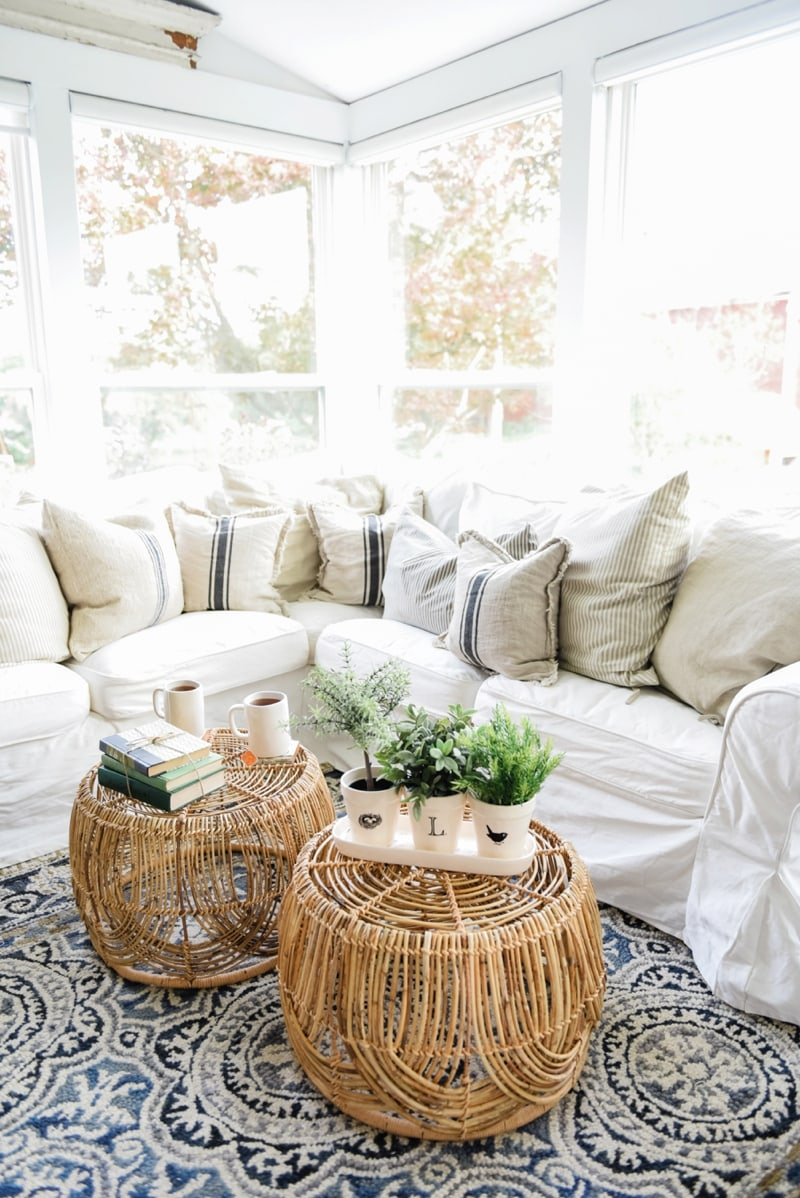DIY Basket Coffee Table