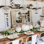 Happy Fall – Rustic Pumpkin & Pear Farmhouse Table
