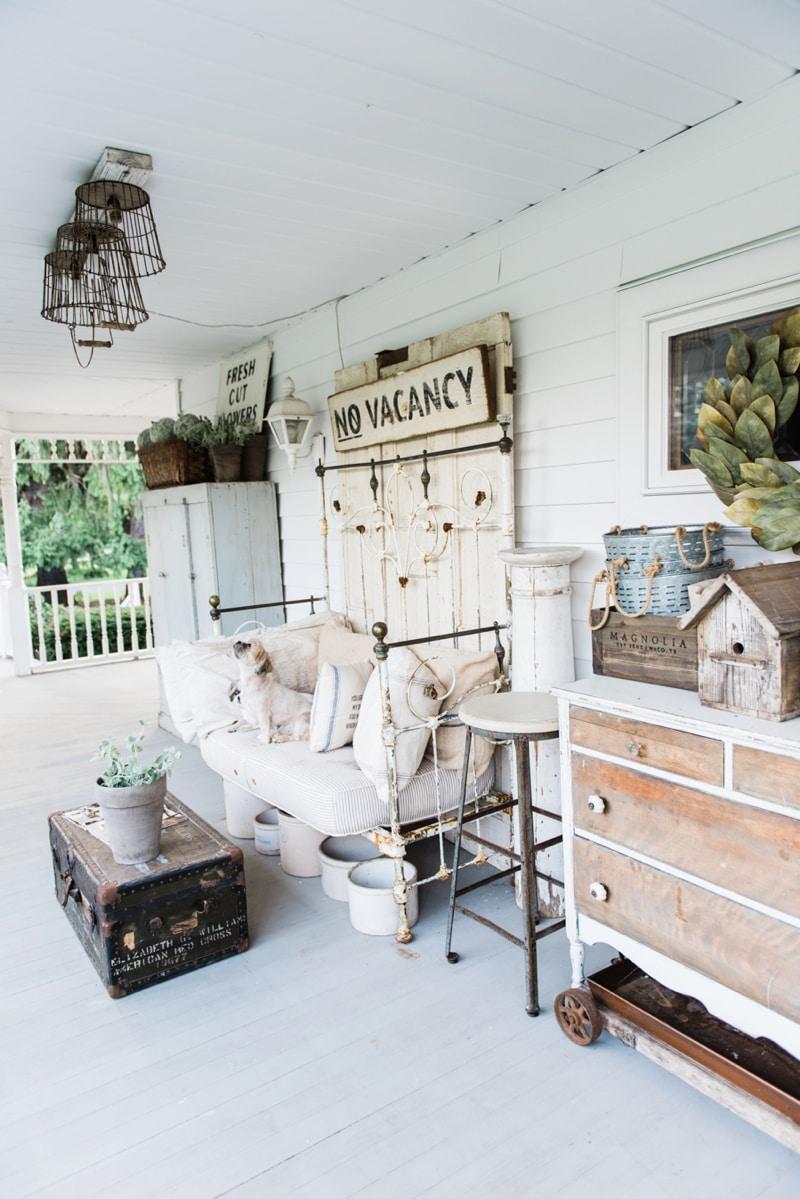 late summer farmhouse porch rustic cottage style farmhouse decor