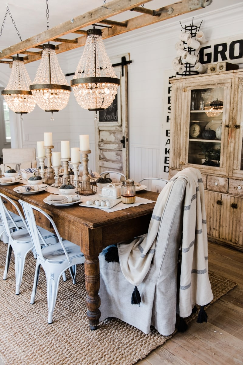 Simple Amp Neutral Fall Farmhouse Dining Room
