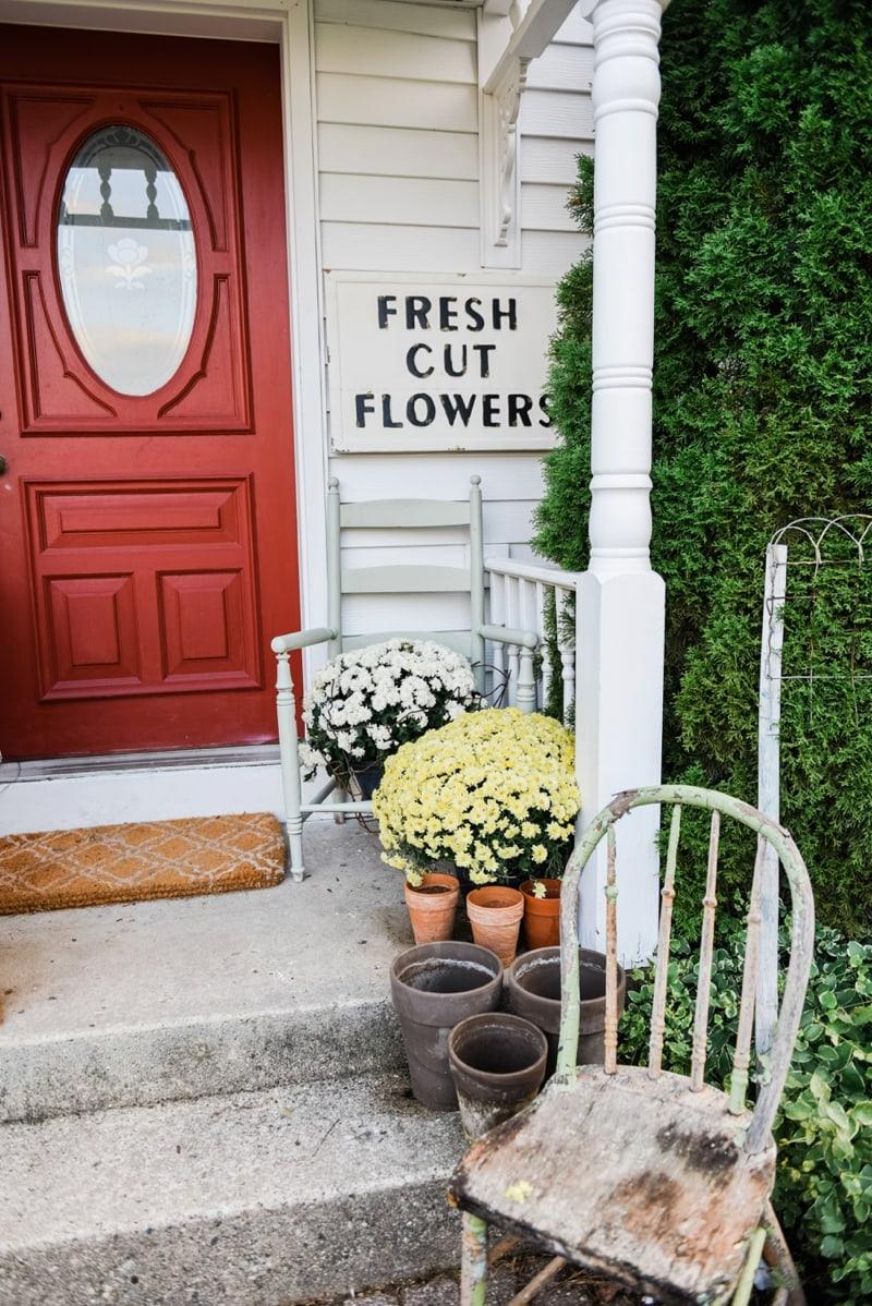 Liz Marie Blog Porch Fresh Cut Flowers Sign_0002