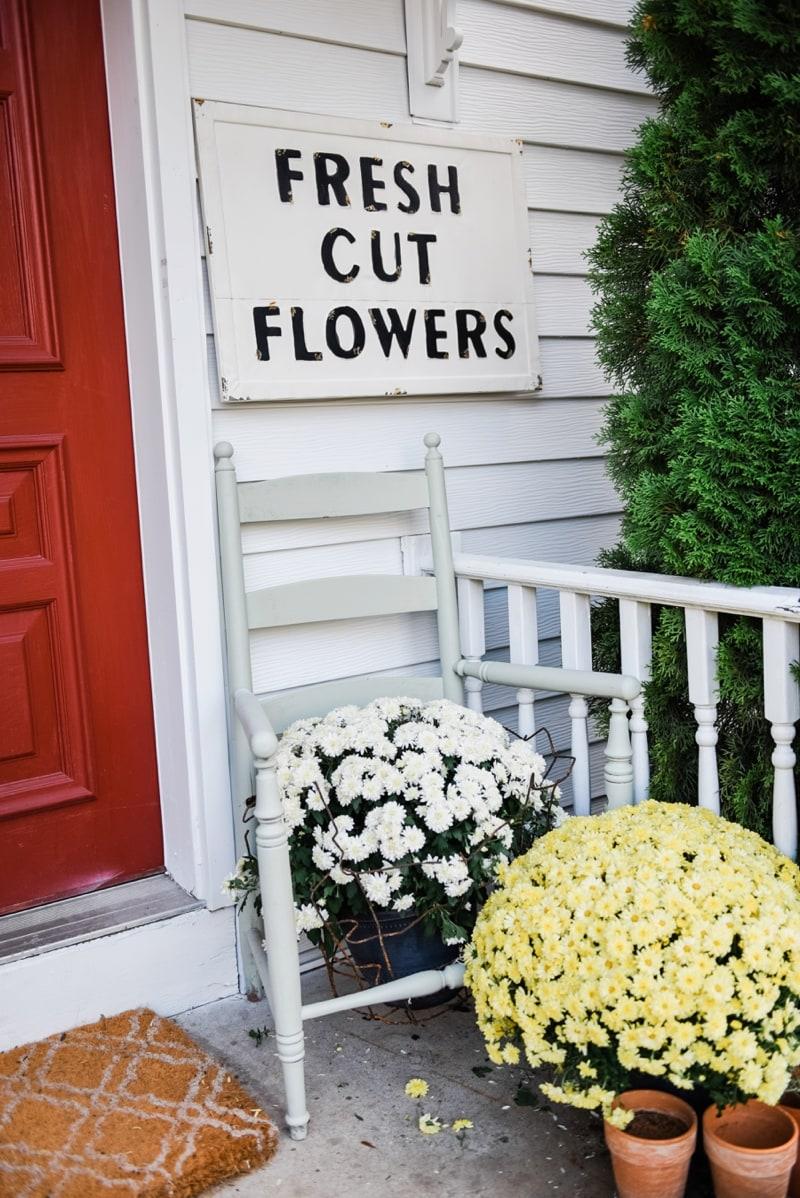 Liz Marie Blog Porch Fresh Cut Flowers Sign_0005
