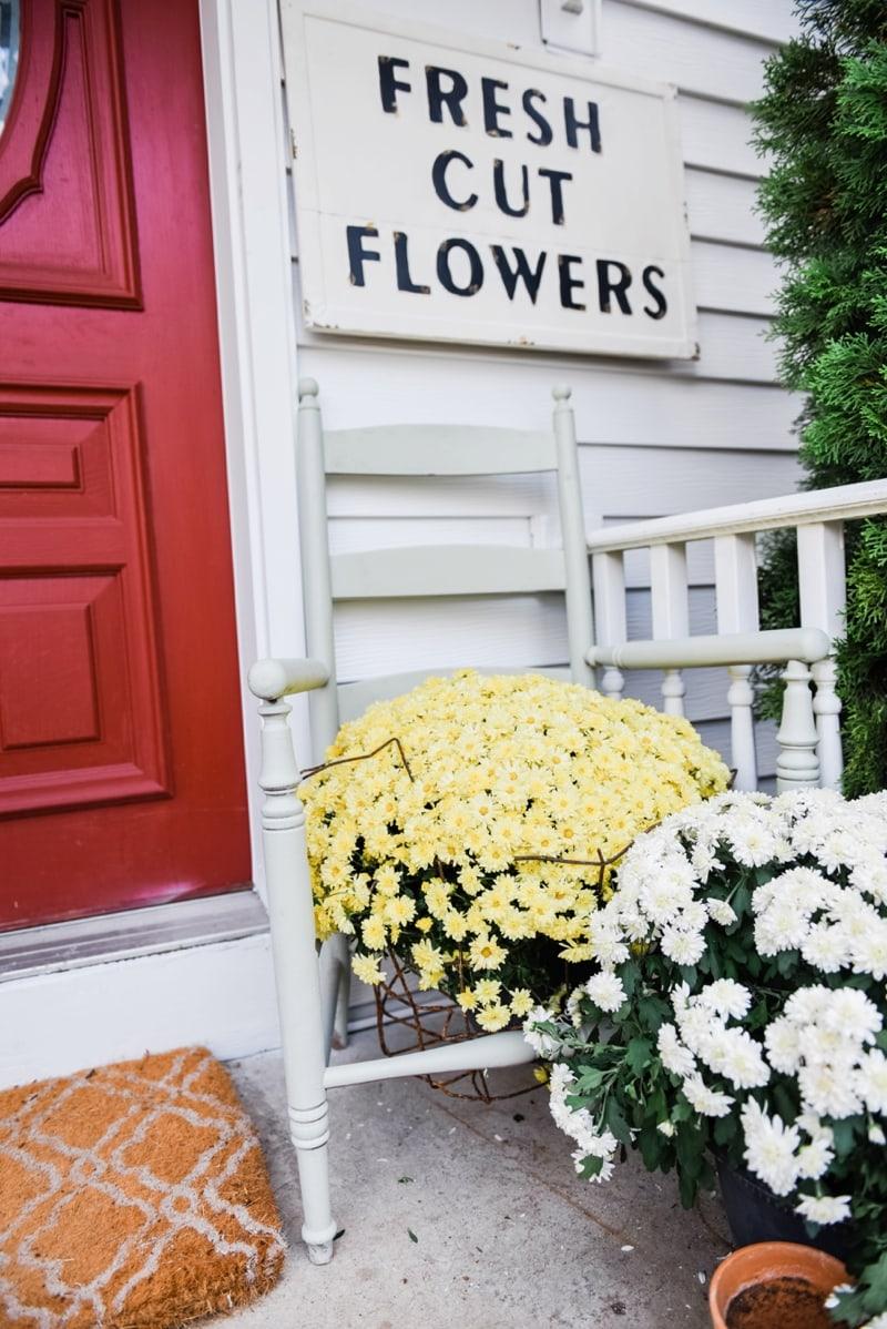 Liz Marie Blog Porch Fresh Cut Flowers Sign_0007
