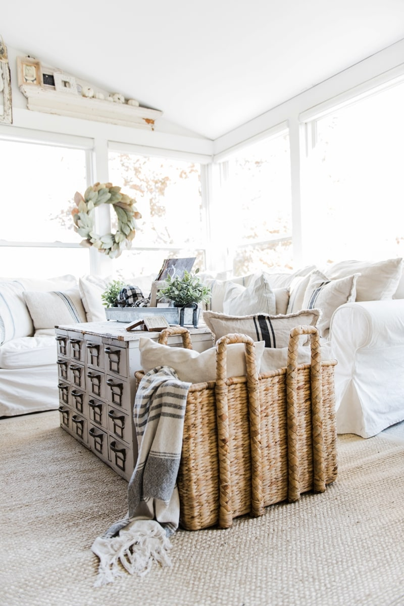 Cozy Farmhouse Fall Sunroom