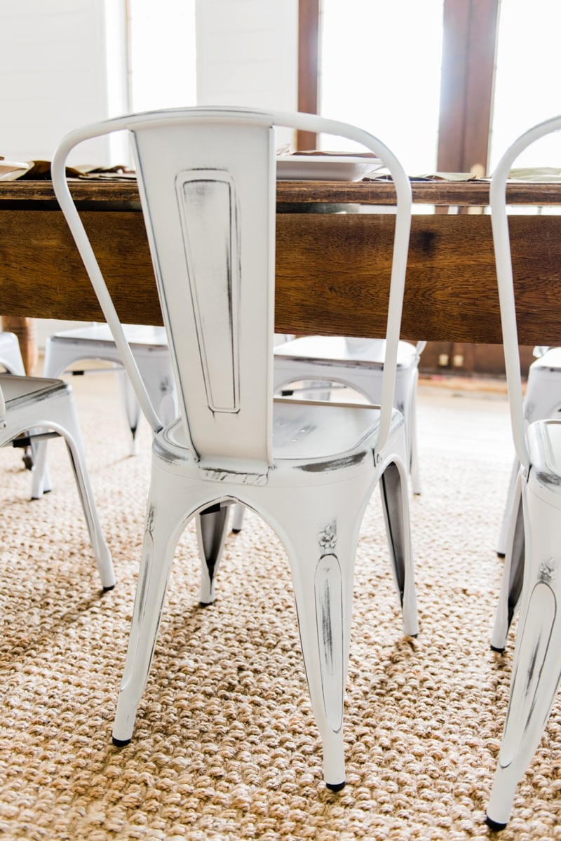 Metal farmhouse dining chairs laurel foundry modern for Metal dining room chairs