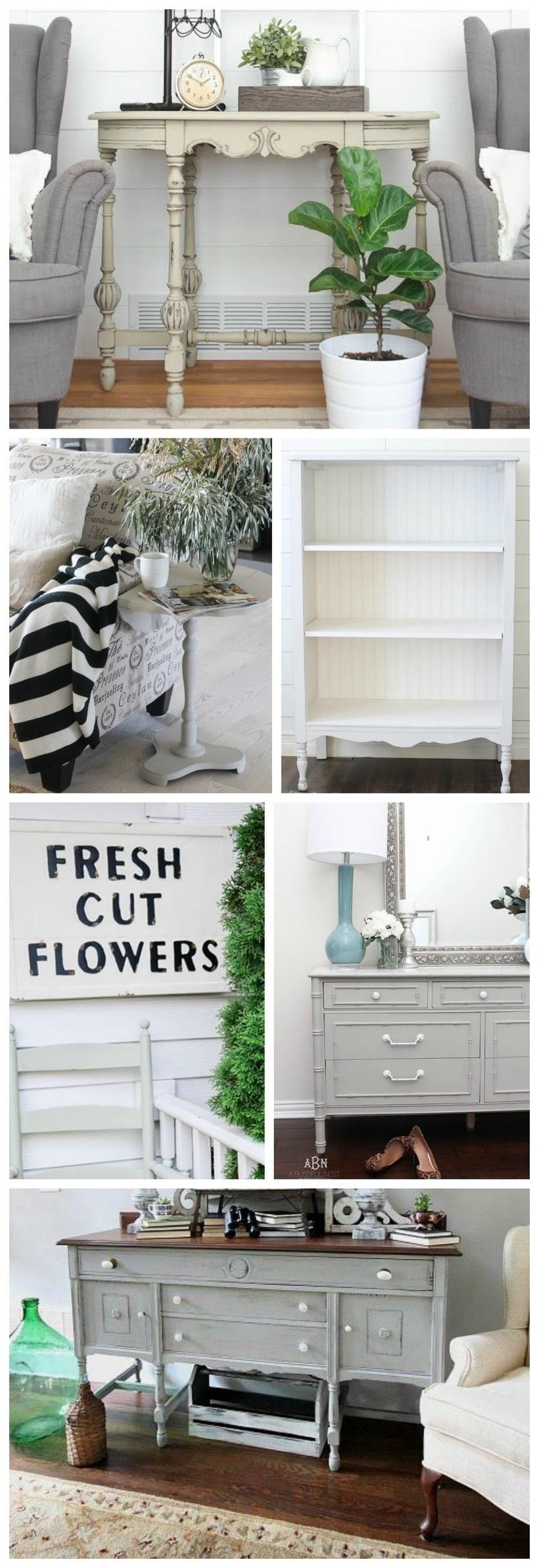 Chalk paint Farmhouse makeovers - Great inspiration for cottage & farmhouse decor