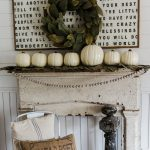 Simple & Rustic Fall Mantel