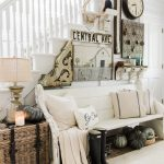 Welcoming Fall Entryway – Rustic Farmhouse Entry