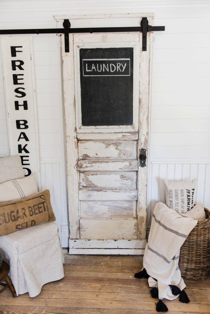 Sliding barn door laundry room door for Laundry room sliding doors