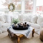 A Farmhouse Style Coffee Table In The Sunroom