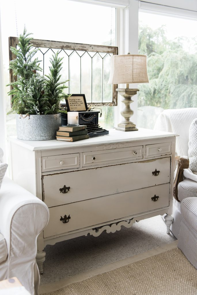 inspiring country chic bedroom decorating ideas | A New Old Dresser In The Sunroom - Liz Marie Blog