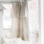 DIY Drop Cloth Curtains In The Sunroom