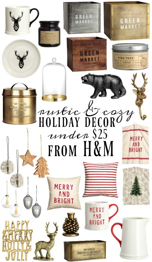 Rustic holiday decor from h m all under 25 for H m christmas decorations