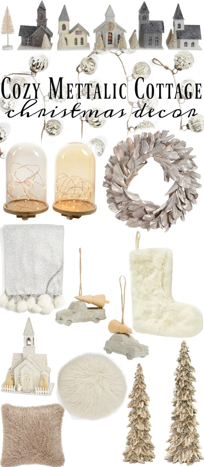 Cozy Metallic Cottage Christmas Decor