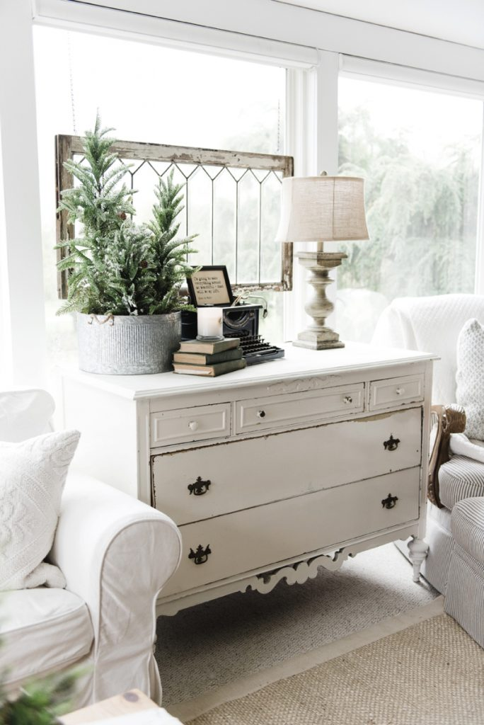 A New Old Dresser In The Sunroom Liz Marie Blog
