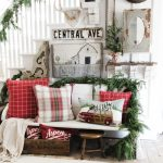 Rustic Christmas Farmhouse Entryway