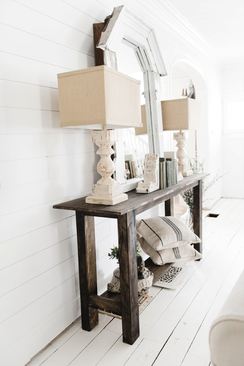 diy rustic small console table. Black Bedroom Furniture Sets. Home Design Ideas