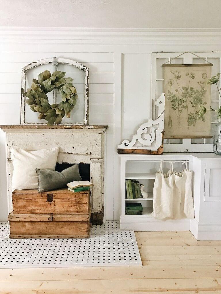 DIY Bookshelf Curtains From Ikea Pillows
