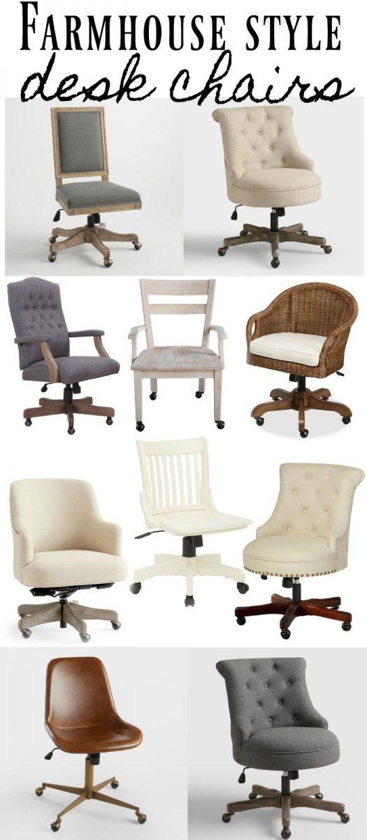Farmhouse Style Desk Chairs