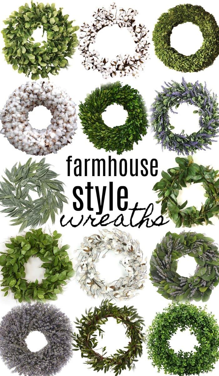 14 Farmhouse Style Wreaths Liz Marie Blog