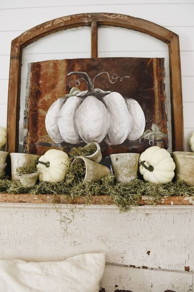 Rustic Garden Fall Mantel