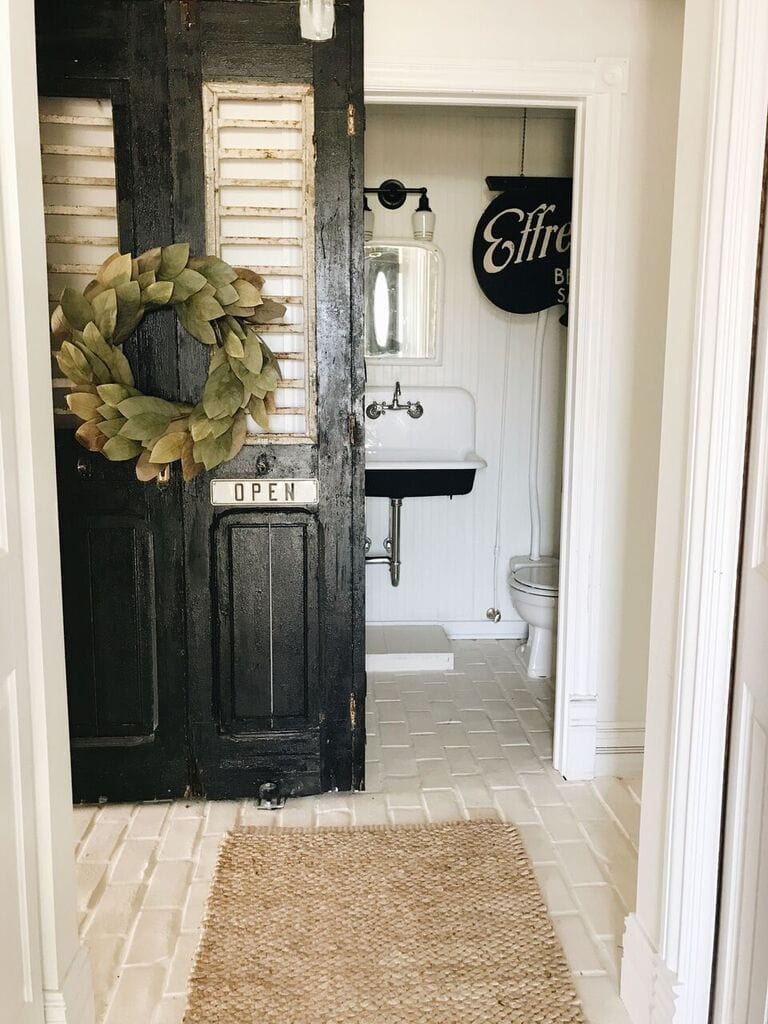 A Door Change In The Half Bath