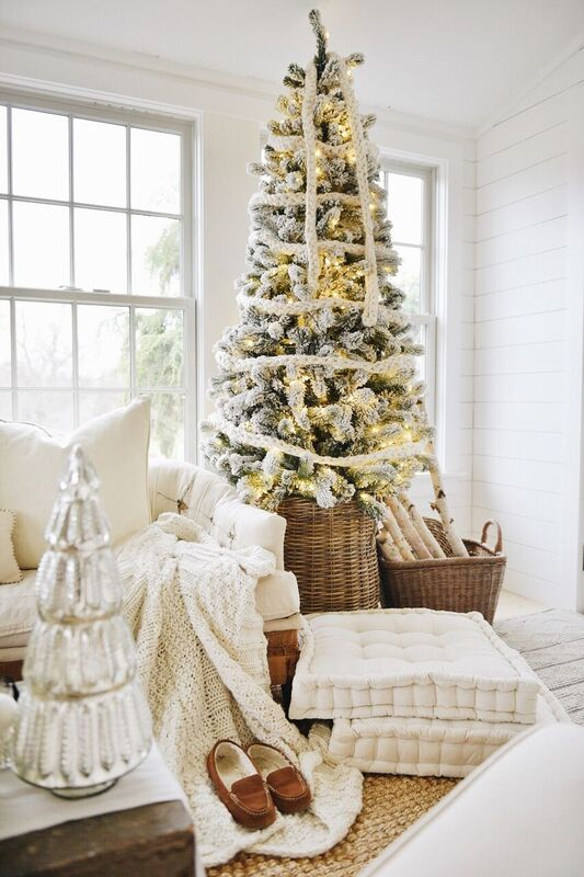How To Style A Christmas Tree In A Basket