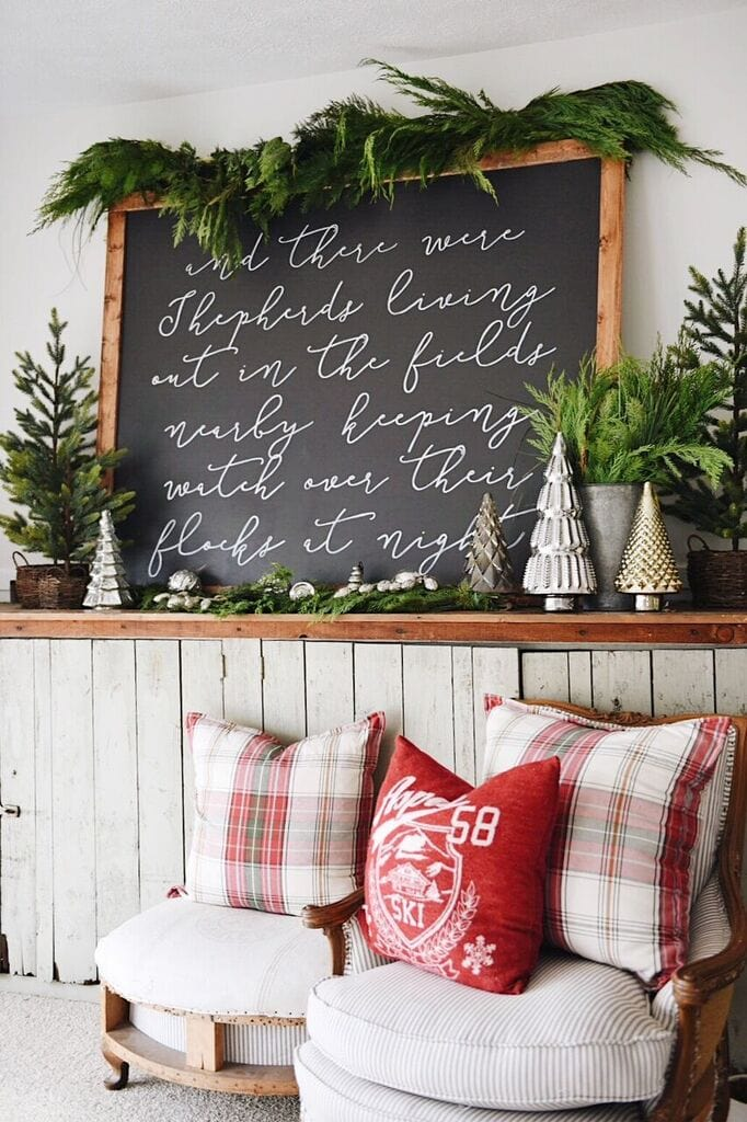 Hand Painted Christmas Sign