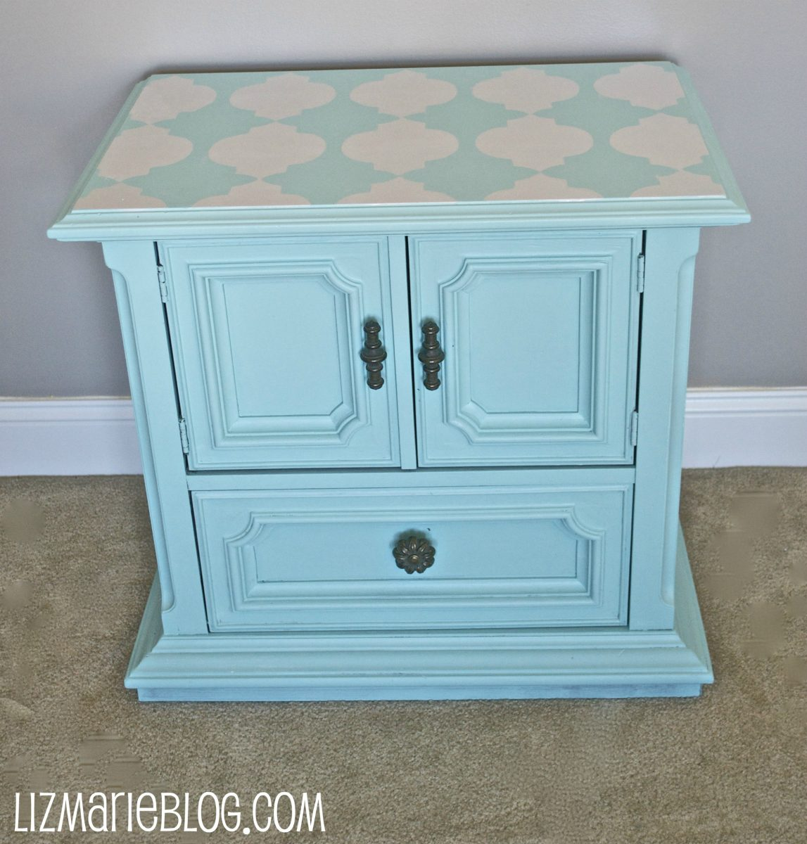 Stenciled Nightstand