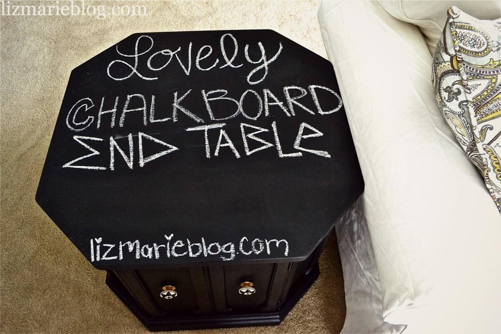, Lovely Chalkboard Top Table…
