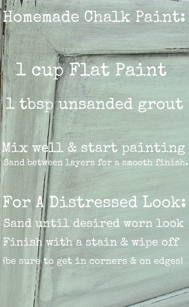 , Mini Mint & Homemade Chalk Paint
