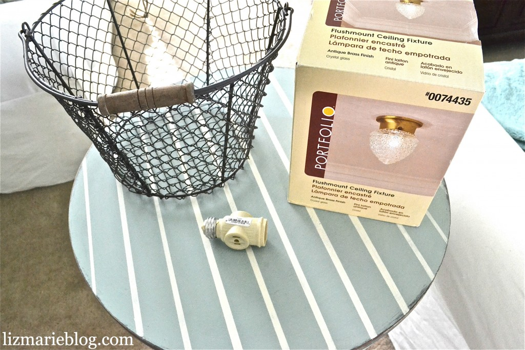 , DIY Wire Basket Light