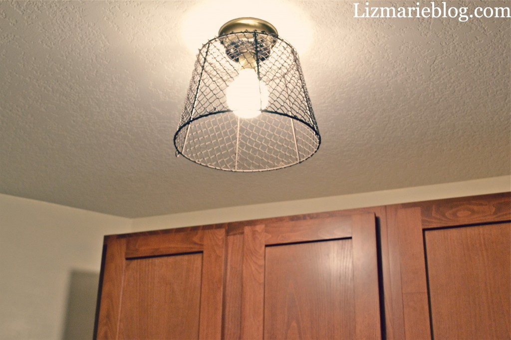 Diy Wire Basket Light Liz Marie Blog