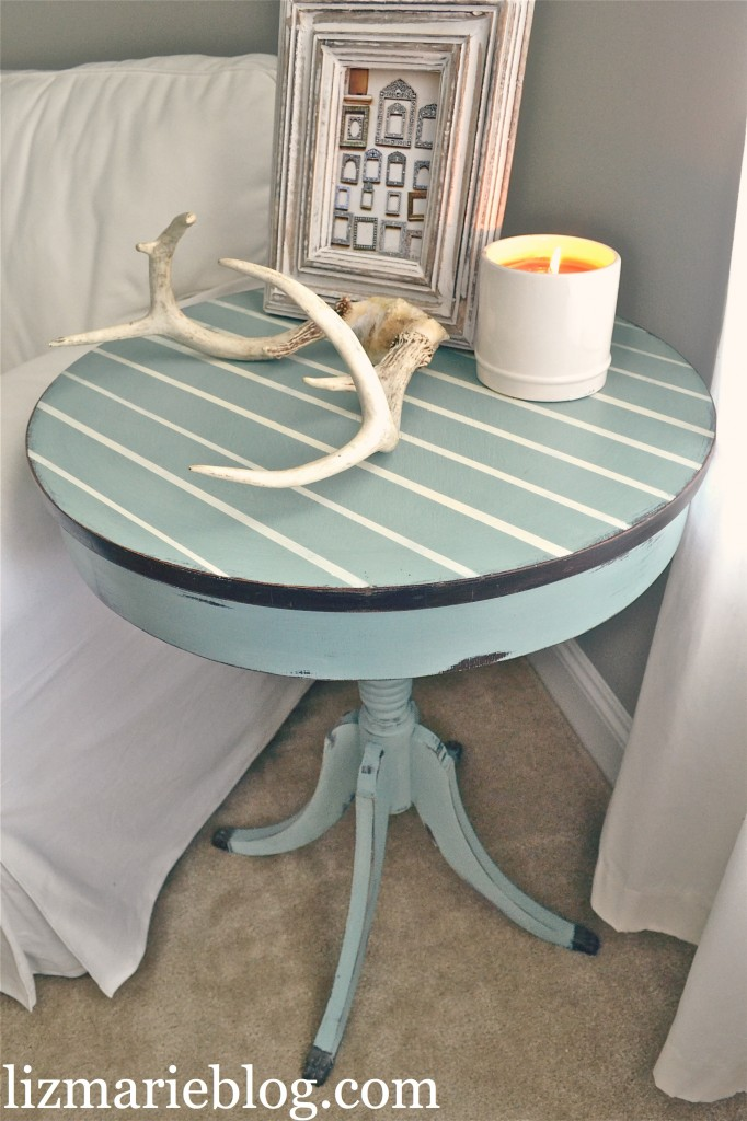 pinstripe table