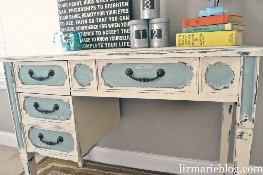 , Shabby Chic Two Toned Desk