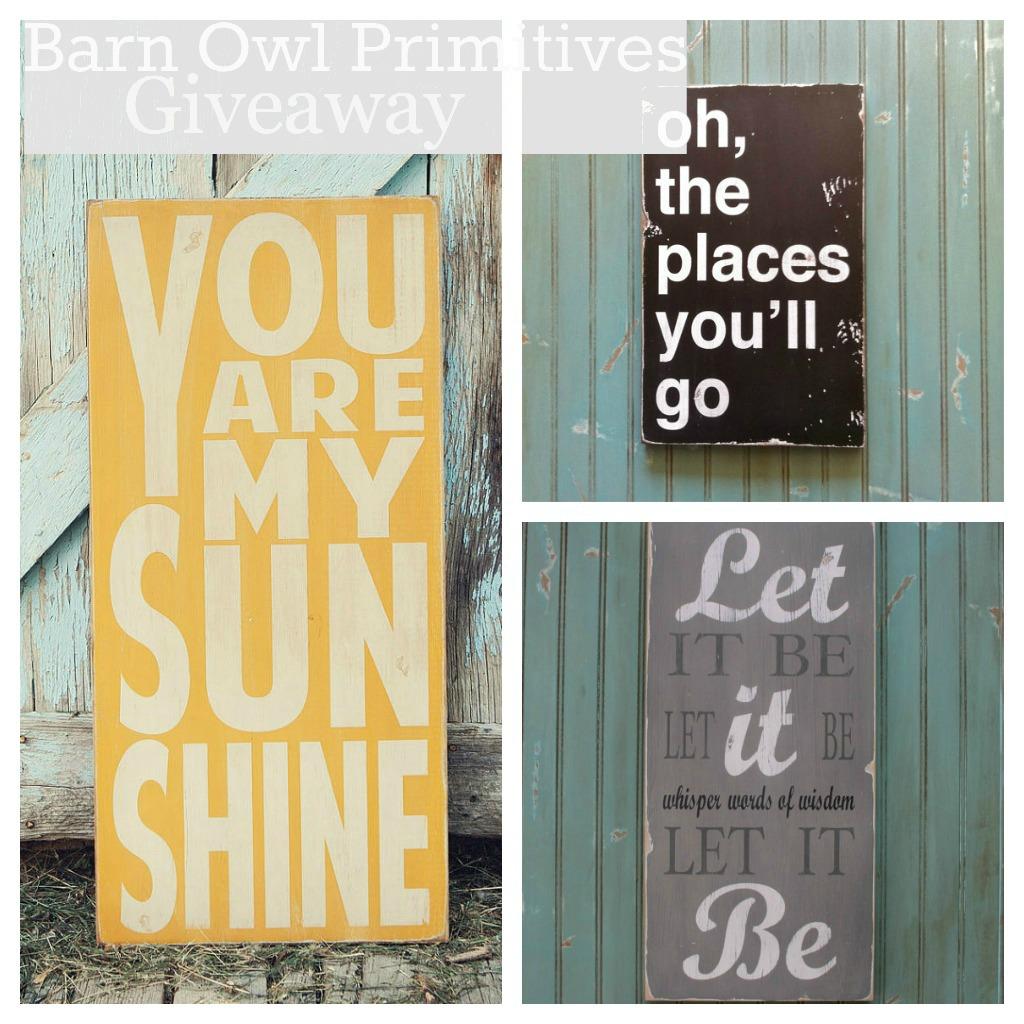Barn Owl Primitives Giveaway