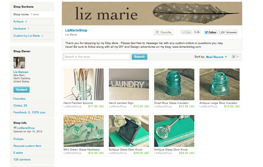 Liz Marie Shop Launch