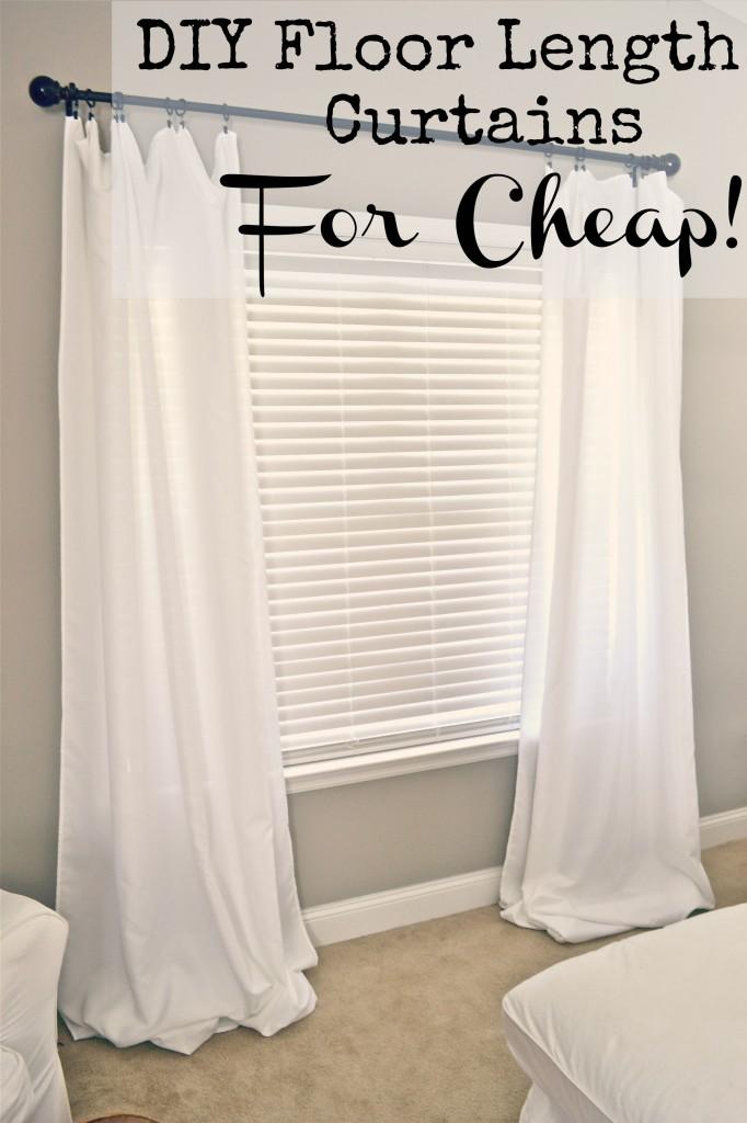 Diy Floor Length Curtains Liz Marie Blog
