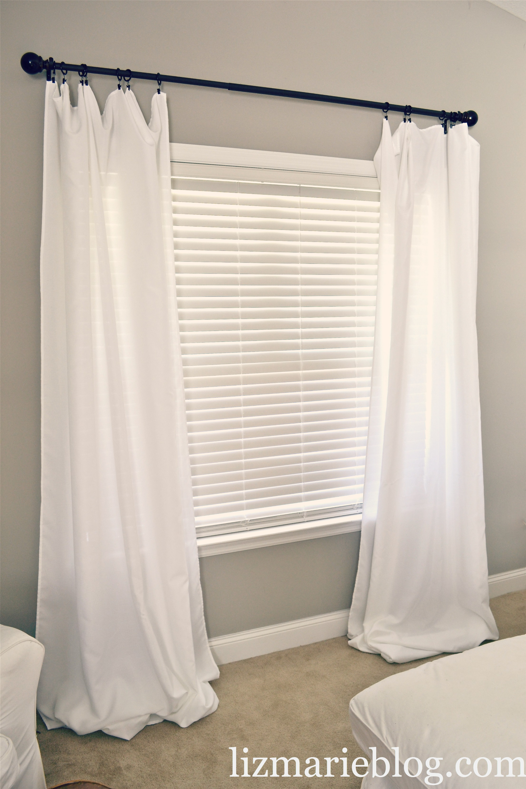 Diy Floor Length Curtains Liz Marie Blog