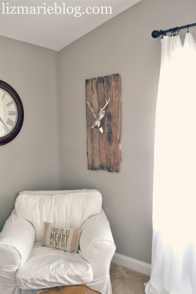 , DIY Deer Head Pallet Mount