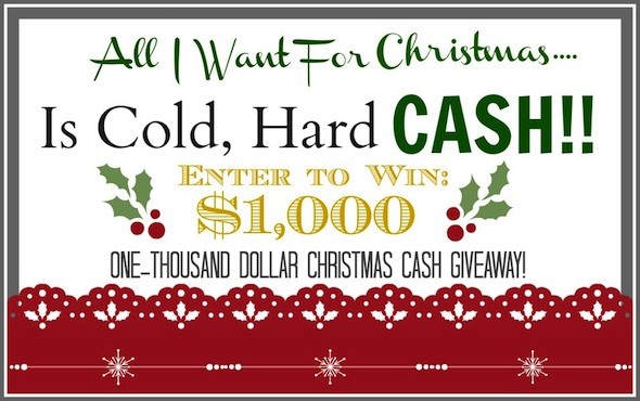 giveaway, All I Want For Christmas Is Cash!